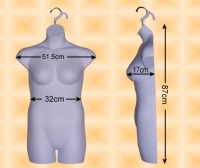 Free-Hanging Ladies' Torso--Plus Size