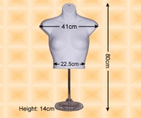 Free-Hanging Ladies' Chest Form With Stand
