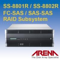 4U FC-SAS / SAS-SAS 雙控制器磁碟陣列儲存系統