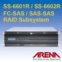 3U FC-SAS / SAS-SAS 雙控制器磁碟陣列儲存系統