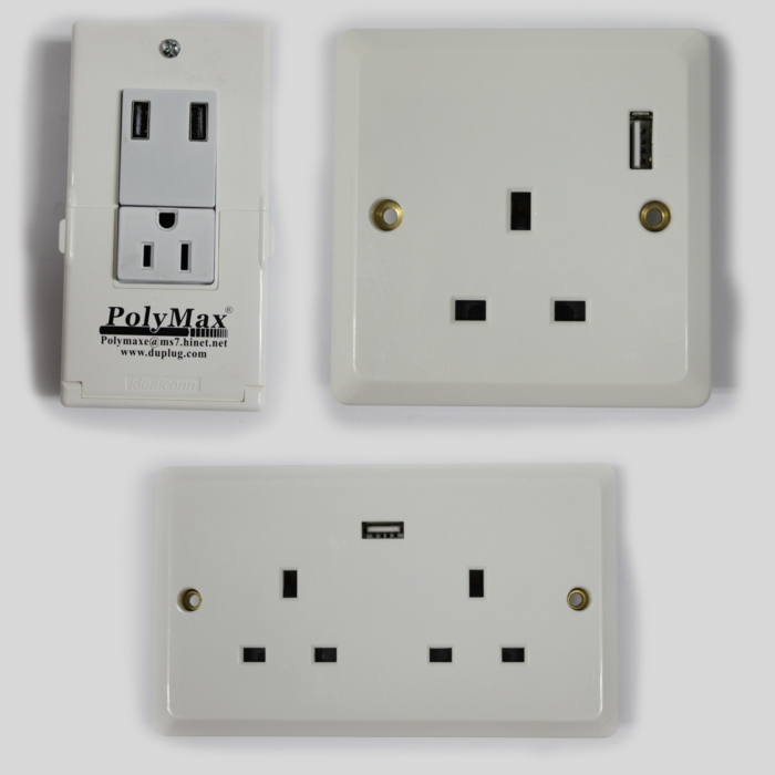 Smart Wall Socket with USB Charger