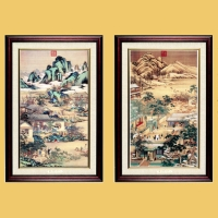 12 Month of the Qing Court Painting Picture