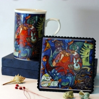 Bone China Mug and Pad Sets