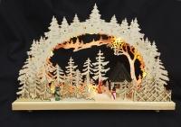 LED wooden forest cabin