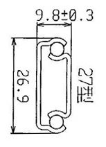 2703 Light-duty 3/4 Extension Ball Bearing Drawer Slides