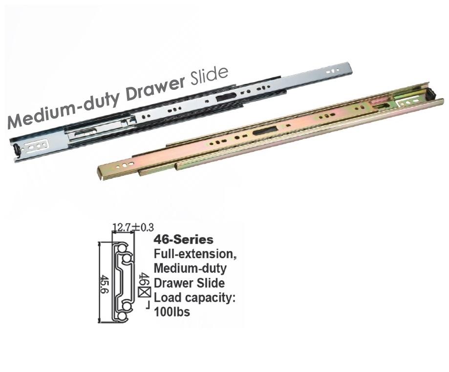 4601 Soft Closing Drawer Slide / Medium Duty Full Extension Drawer Slides