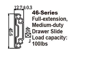 4608P Medium-duty Steel Ball-bearing Drawer Slide with push open system