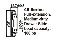 4610 Medium-duty Ball Bearing Drawer Slide