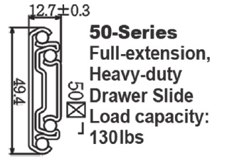 5180  Heavy-duty Draw Slide with self-closing system