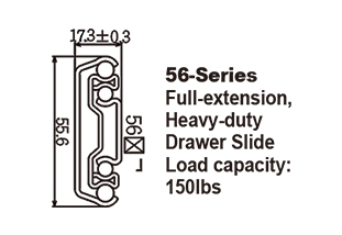 5680 Heavy-duty Drawer Slide with self-closing system