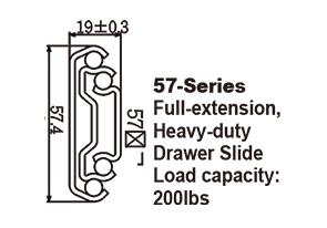 5789 Heavy-duty Ball Bearing Drawer Slide with interlock system