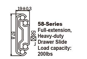 5820 Heavy-duty Drawer Slide,Steel ball-bearing slide