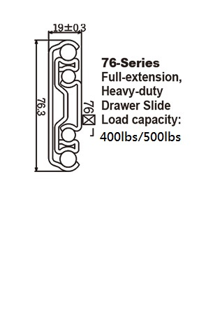 7601 Heavy-duty Drawer Slide