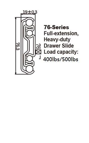 7650 Heavy-duty Drawer Slides