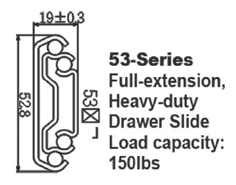 5301 Heavy duty drawer slide