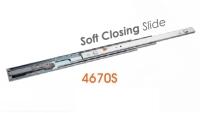 4670S Medium-duty Full Extension Ball Bearing Drawer Slides with Soft Close Bearing Drawer Slides