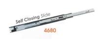 4680 Medium-duty Full Extension Ball Bearing Drawer Slides with self closing
