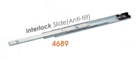 4689 Medium-duty Full Extension Ball Bearing Drawer Slides with interlock
