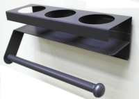 MAG. 3-CAN SPRAY CAN RACK W/ Tissue Holder-Taper