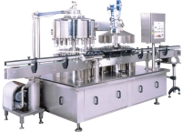 Filling, Aluminum foil forming and sealing machine