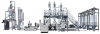 Co-rotating Twin Screw Automatic Metering / Weighing / Conveying Pelletizing Compounding Line