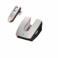 More-in One Portable Bluetooth Earphone with Docking System for Cars and Offices.