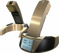 Combined Landline Phone with Bluetooth Handset and Earphone