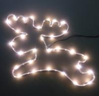 銅線電池盒麋鹿造型燈