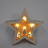 WOODEN STAR LIGHT SET