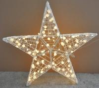 3D户外五角星造型灯