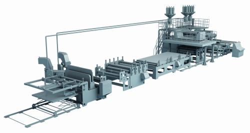 AIR-BUBBLE HOLLOW PROFILE SHEET MACHINE