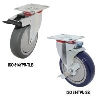 長方板剎車活動輪