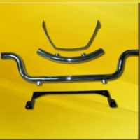 Front Bumper with Braket and Rear Bumper with Bracket for Golfcar
