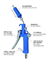Patent Air blow gun(with turbo air nozzle)