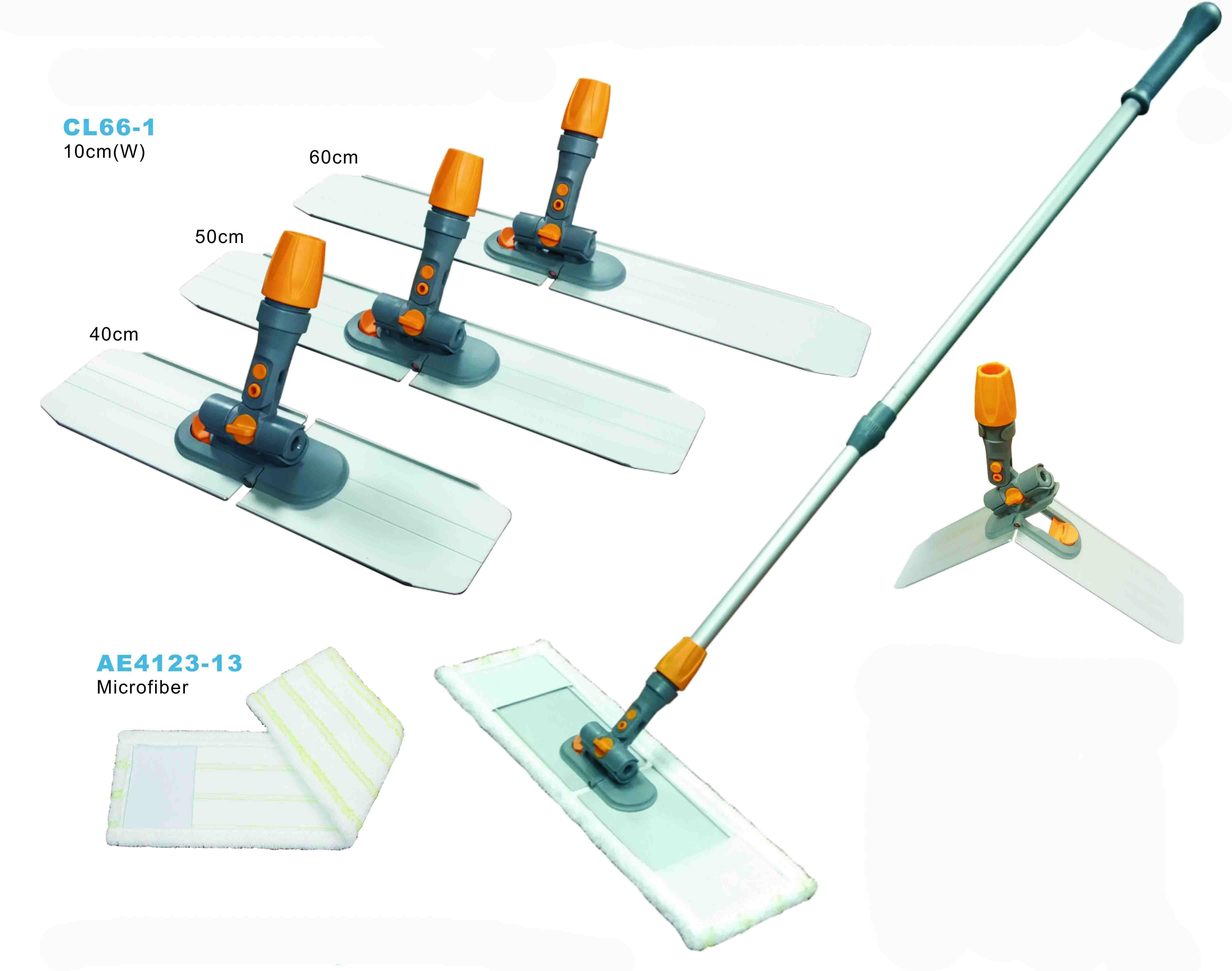 Foldable aluminum flat mop
