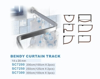 Bendy shower curtain track