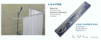 L&U shower curtain rail
