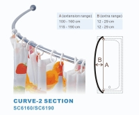 Curve shower curtain rod