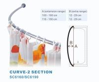 Curve shower curtain rod