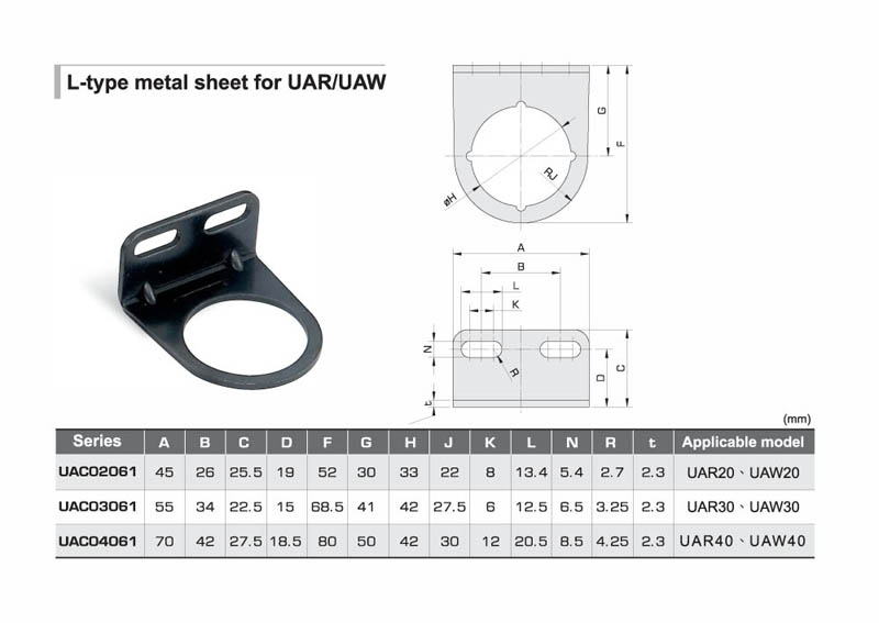 L-type Sheet Metal for AR/AW