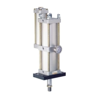 BS air-oil power cylinder