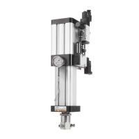 BSG air-oil power cylinder (magnetic)