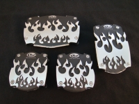 Pedal Pads-Flame