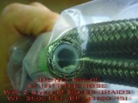 铁氟龙双层不锈钢编织油管