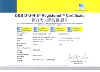D&B D-U-N-S Registered Certificate