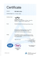 Cens.com TUV ISO 9001:2015 Certificate LUNG MING LI CO., LTD.