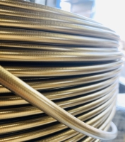 Cens.com 1/8 PTFE Stainless Steel Braided brake hose - Gold LUNG MING LI CO., LTD.