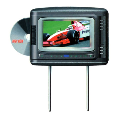 World's First All-in-One Car Headrest DVD & Multimedia Player