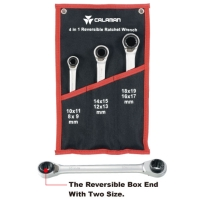 4 In 1 Reversible Ratchet Wrenches Set