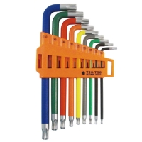 9 Pieces Long Tamper Star Ball Key Wrench Set